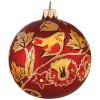 Шар Д=8,5см, Хохлома Птица на ветке, в подарочной упаковке КУ-85-107