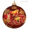 Шар Д=8,5см, Хохлома Птица красная, в подарочной упаковке КУ-85-95