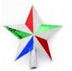 Наконечник Звезда 19см, 2цв. блест. кр/краска Е 50683