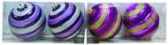 Набор шаров Д=8см*2шт., 2цв., матовый/блест.рельеф. полоскав ПВХ Е 92039