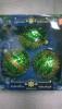 Набор шаров Д=8см*3шт. Завитушки, в подарочной упаковке КН-80-1407