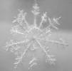 Снежинка 30см пушистая с бусинками, раскладыв. Е 60254