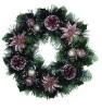 Венок елочный 41см, цветы/фрукты/ягоды/шишки Е 92120