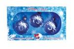 Набор шаров Д=6см*3шт. Прозрачный, в подарочной упаковке КН-60-1256