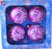 Набор шаров Д=6см*4шт. Морозный, в подарочной упаковке КН-60-1324