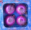 Набор шаров Д=6см*4шт. Сияние, в подарочной упаковке КН-60-1325