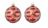 Набор шаров Д=8,5см*2шт. Новогодний, в подарочной упаковке КН-85-01