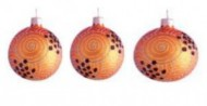 Набор шаров Д=6см*3шт. Завиток, в подарочной упаковке КНГ-60-7595