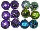 Набор шаров Д=7см*6шт., 3цв., матовый/блест. меридиан, в ПВХ Е 92031