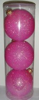 Набор шаров Д=8,5см*3шт., Радужный Перламутр, розовый ТН85043