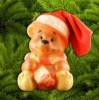 Упаковка Мишка новогодний в красном колпаке ПВХ УВ-05