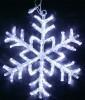 Снежинка RL LED 40см, 54л, акрил., белая, 220В, IP 54, соед. до 50 шт. RL-SFA40C-W
