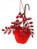 Украшение Рубиновые фрукты 17см, 3в. 106087