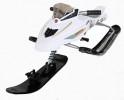 Снегокат-скутер SNOW STORM 108*48,лыжи-черный пластик, корпус-белый пластик, рама- сталь X43558