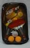 Набор для настольного тенниса ShuHua 2 ракетки, 3 шарика в чехле 3215