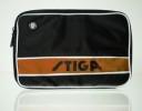 Чехол для ракетки STIGA Style Double Maxi прямоугольный, на 2-е ракетки, черно-оранжевый 8848-02
