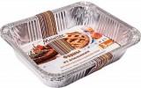 Форма алюминиевая для приготовления и хранения пищи MARMITON 34*22,*3,3см, 3шт., прямоугольная 11358