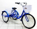 Велосипед 24' Иж-Байк Фермер 24' синий металлик, +корзина-2шт., 6 ск.