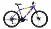 Велосипед 26' хардтейл, рама алюминий ALTAIR AL 26 D фиолет./зеленый, диск, 21 ск., 17' RBKN9M66Q015