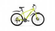 Велосипед 26' хардтейл, рама алюминий FORWARD HARDI 26 2.0 disc св.-желтый, 21ск., 17' RBKW0M66Q014