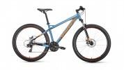 Велосипед 27,5' хардтейл, рама алюминий FORWARD QUADRO 27,5 2.0 disc серый, 24 ск., 17' RBKW9M67R014