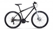 Велосипед 27,5' хардтейл FORWARD SPORTING 27,5 2.0 disc серый/черный, диск, 21 ск., 17' RBKW0MN7Q0