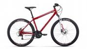 Велосипед 27,5' хардтейл FORWARD SPORTING 27,5 3.0 disc т.-красный/серый, диск, 21 ск., 19' RBK
