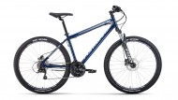 Велосипед 27,5' хардтейл FORWARD SPORTING 27,5 3.0 disc т.-синий/серый, диск, 21 ск., 19' RBKW0