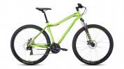 Велосипед 29' хардтейл FORWARD SPORTING 29 2.0 disc св.-зеленый/черный, диск, 21 ск., 17' RBKW0