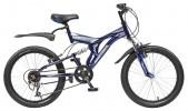 Велосипед 20' двухподвес NOVATRACK TITANIUM темно-синий, 6ск. 20 SS6V.TITANIUM.DB 5