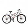 Велосипед 24' двухподвес TECH TEAM CROSS черно-белый, 21 ск. 1710