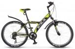 Велосипед 24' хардтейл STELS NAVIGATOR-410 серый/салатовый/черный, 18 ск., 15'