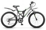 Велосипед 24' двухподвес STELS MUSTANG V синий, 21 ск., 16' V020