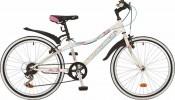 Велосипед NOVATRACK 24' хардтейл, ALICE тормоз V-brake, белый, 6 ск., 12' 24 SH 6SV.ALICE.12 WT7