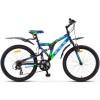 Велосипед 24' двухподвес STELS MUSTANG синий, 21ск.