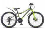Велосипед 24' хардтейл, рама алюминий STELS NAVIGATOR-420 черный/серый/салатовый, 18 ск.