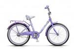 Велосипед 20' рама женская STELS PILOT-200 LADY тормоз V-brake, светло-фиолетовый, 1 ск.