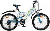 Велосипед 20' двухподвес STELS PILOT-260 белый/синий, 6 ск.
