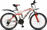 Велосипед 24' двухподвес, рама алюминий/сталь STELS VOYAGER белый/красный, 21 ск.