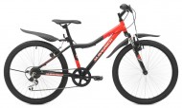 Велосипед MAVERICK 20' хардтейл, рама женская, алюминий, ДИСК, D 37 AL красный-серый, 7 ск.