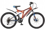 Велосипед STINGER 24' двухподвес, диск, HIGHLANDER 100 D оранжевый, 16,5'  24 SFD.HILAND1D.16 OR 7