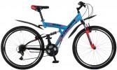 Велосипед STINGER 24' двухподвес, BANZAI синий, 16,5' 24 SFV.BANZAI.16 BL 7
