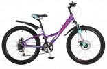 Велосипед STINGER 24' хардтейл, рама женская, алюминий, диск, GALAXY D фиолетовый 24 AHD. GALAXD. 11