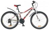 Велосипед 24' хардтейл, рама алюминий STELS NAVIGATOR-420 белый/черный/красный, 18 ск., 13'