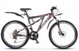 Велосипед 24' двухподвес, рама алюминий/сталь STELS VOYAGER MD диск, черный/серый, 21 ск., 19'