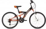 Велосипед STINGER 24' двухподвес BANZAI черный, 14' 24 SFV. BANZAI. 14 BK 7