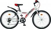 Велосипед NOVATRACK 24' хардтейл, RACER белый, 6ск., 12' 24 SH6V.RACER.12 WT8