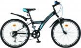 Велосипед NOVATRACK 24' хардтейл, RACER черный, 6ск., 10' 24 SH 6V.RACER.10 BK8