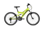 Велосипед 24' двухподвес STINGER HIGHLANDER зеленый, 14' 24 SFV.HILANDER 14 GN 8