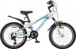 Велосипед NOVATRACK 20' хардтейл, рама алюминий, LUMEN белый, 6 ск. 20 AH6V.LUMEN.WT 8